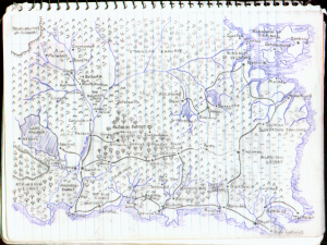 Hand Drawn Mystara Map